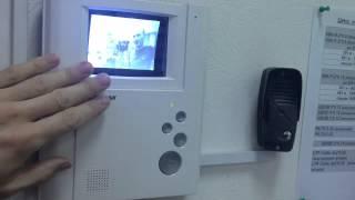 видеодомофон Commax DPV-4LH и вызывная панель Топаз