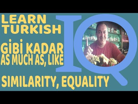 Turkish Language as much as, as, just like, gibi, kadar how to