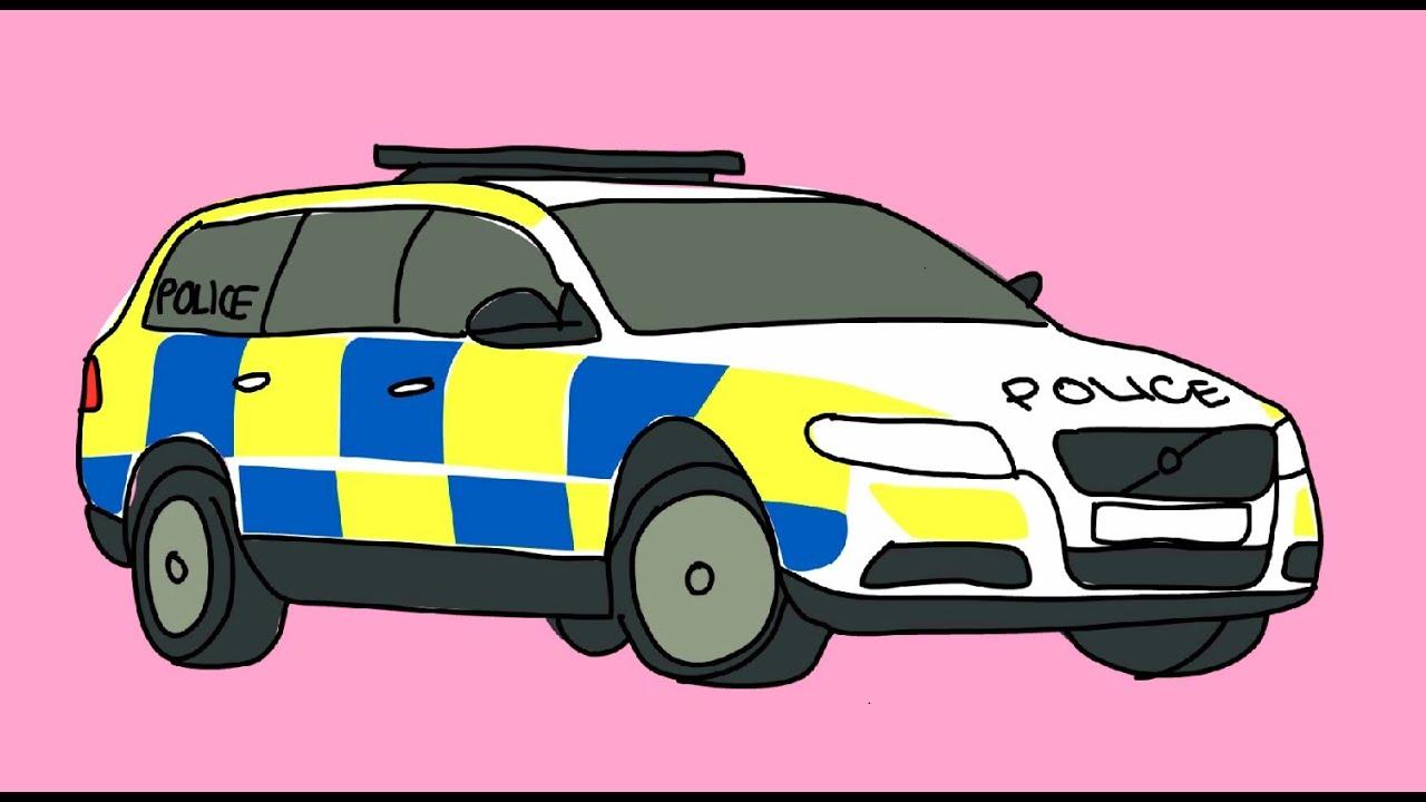 Мультики машинки - полицейская машина раскраска - YouTube