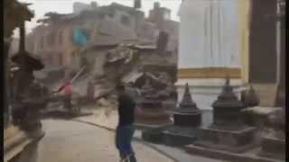 Original footage 7.9 Magnitude earthquake in Nepal 2015