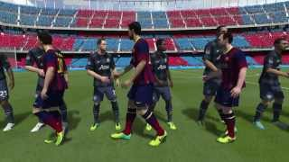 PS4 - FIFA 14 - FC Barcelona vs Manchester United