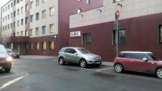 Смотреть видео Москва 1396 Мажоров переулок, бизнес-центр ABC осень день онлайн