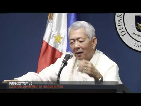 Yasay denies ASEAN quote in Agence France-Presse report