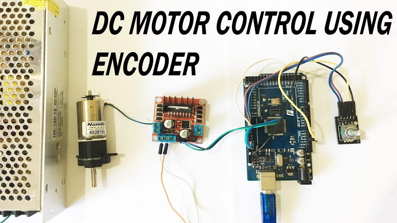 Dc geared motor direction and speed control using l298n for Encoder for motor control