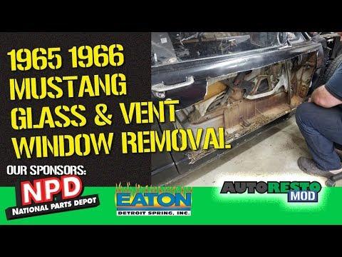 1965 1966 mustang door glass vent window removal episode 359 autorestomod 1965 ford mustang 289 engine diagram 65 mustang door glass diagram #10