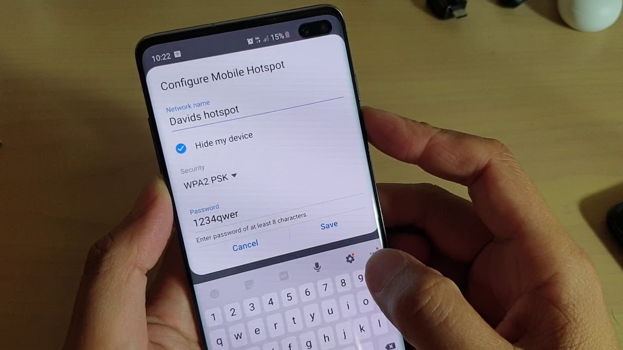 Samsung Galaxy S10 / S10+: How to Hide Mobile Hotspot Wifi