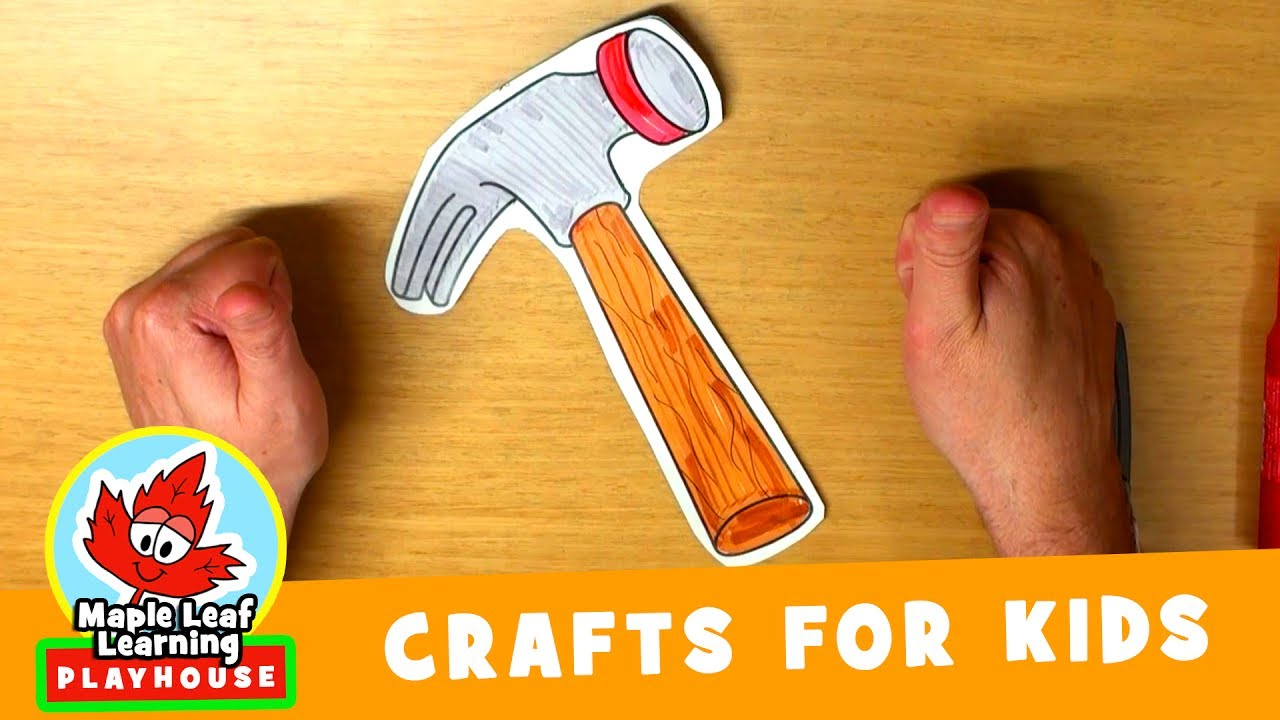 Hammer Craft For Kids Maple Leaf Learning Playhouse Youtube