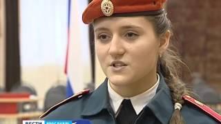 Первокурсники Ярославского кадетского колледжа приняли присягу