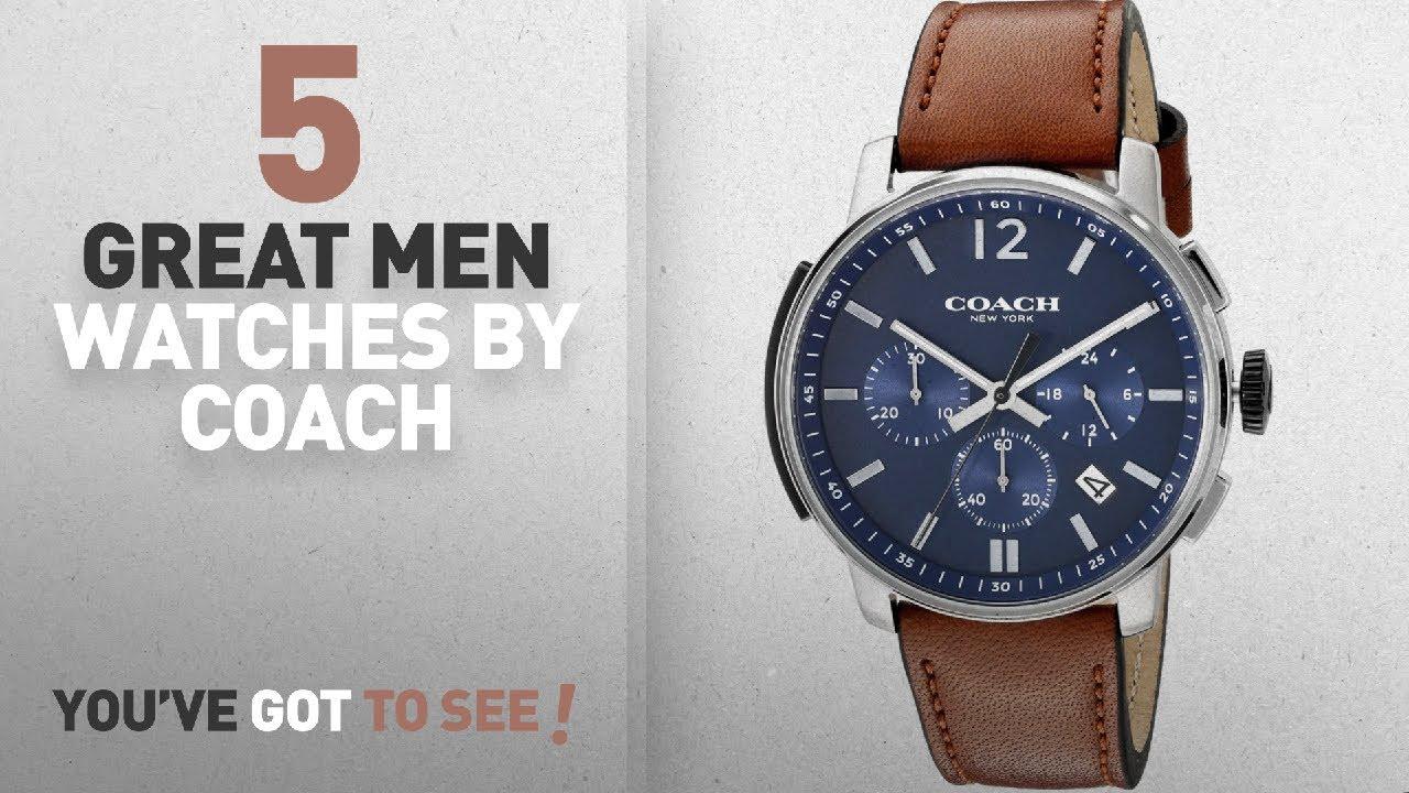 7bcd596b13 Top 10 Coach Men Watches [ Winter 2018 ]: COACH Men's Bleecker Chrono  Leather Matte Navy Watch