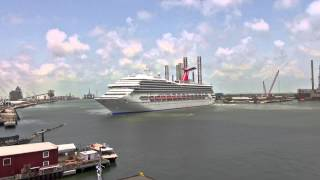 Timelapse: Carnival Triumph Cruise Ship Arrival in Galveston Island, Texas