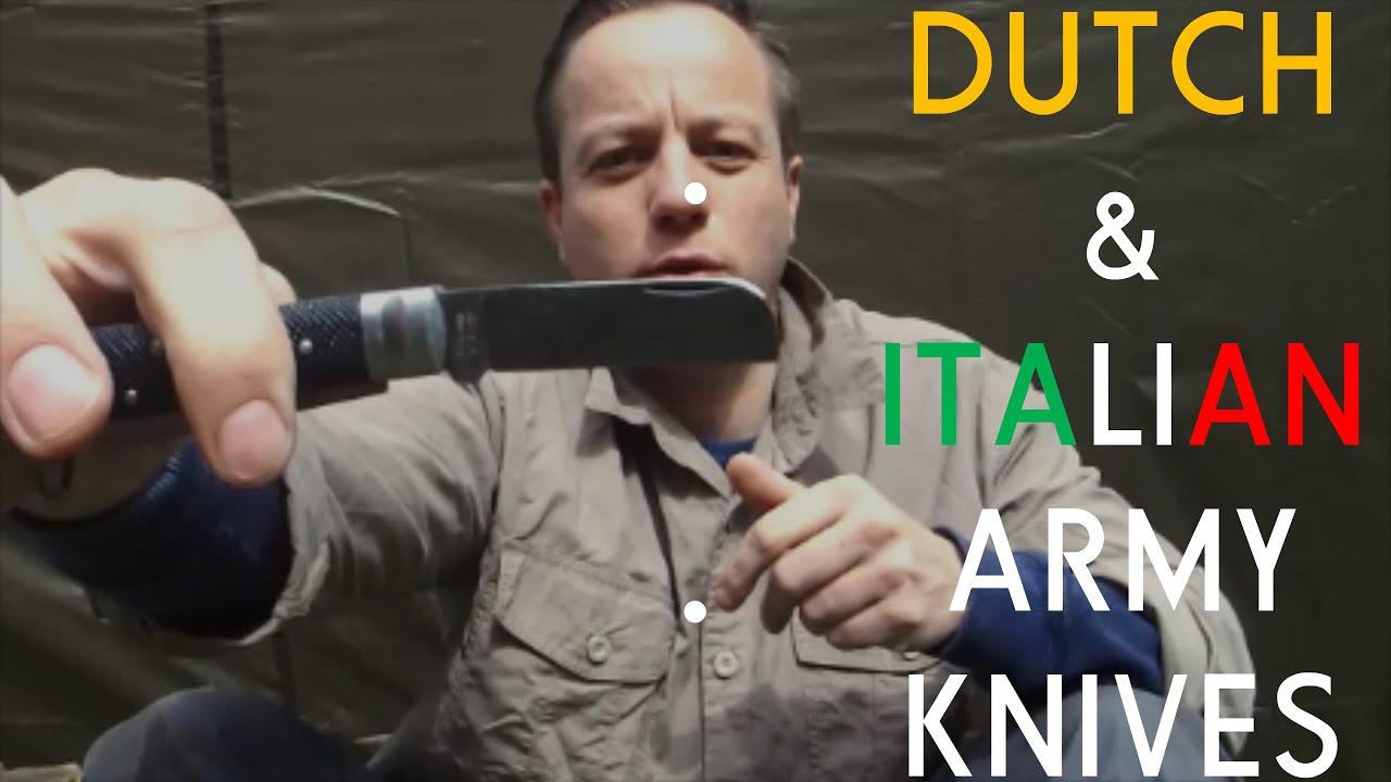 Italian & Dutch ARMY Knives