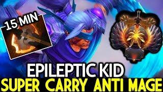 EPILEPTIC KID [Anti Mage] Super Carry 1000 XPM Crazy Speed Farm 7.23 Dota 2