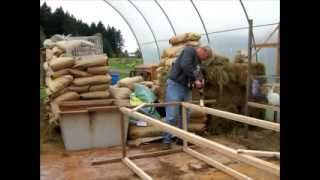 How To Build A Two Layer Rack To Hold 16' Of Rabbit Hutches (be Sure To Watch The Upgrade Video)