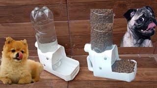 Como Fazer Bebedouro e Comedouro Automático Com Garrafa Pet Caseiro Muito Fácil e Rápido
