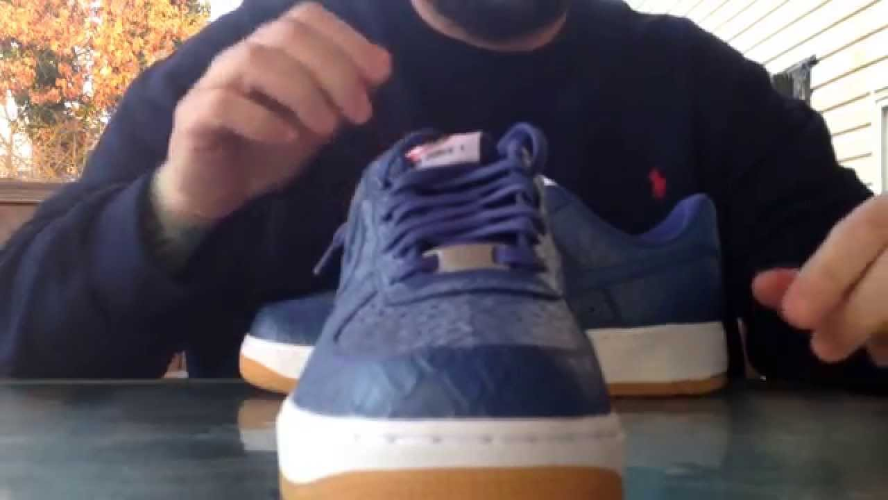 di nuovo prendere nike air force 1 blu coccodrillo su youtube