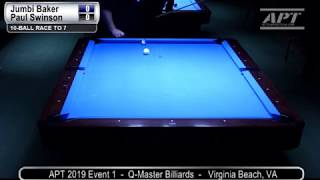 2019 Event 1: Jumbi Baker vs Paul Swinson (no audio)