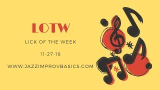 jazz lick of the week | -patterny- descending minor triads #6