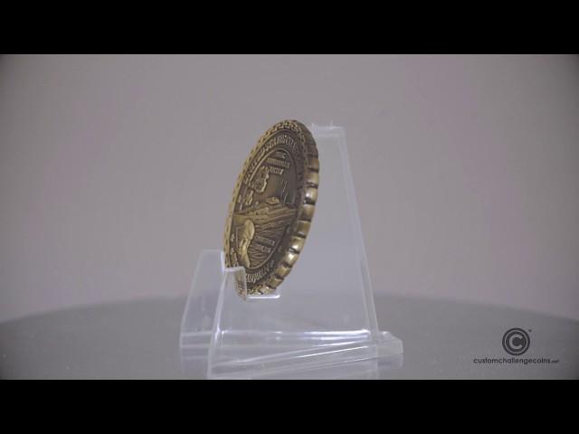 Custom Challenge Coins - US Coast Guard Donald Horsley