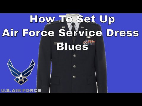 How To Set Up Air Force Service Dress Blues Uniform