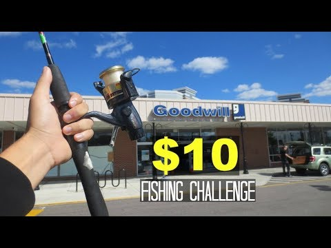 $10 Thrift Store Fishing Challenge!! (Unexpected!)