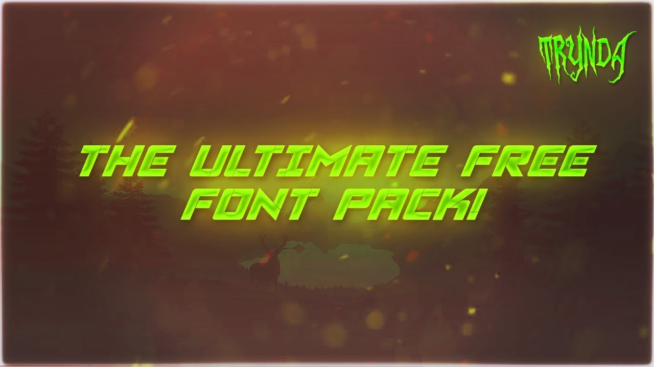 Download The Ultimate FREE Font Pack for Editors and Designers ...