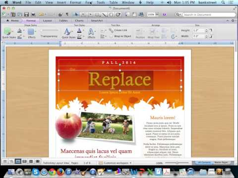 Create A Newsletter Using Microsoft Word Templates - Youtube