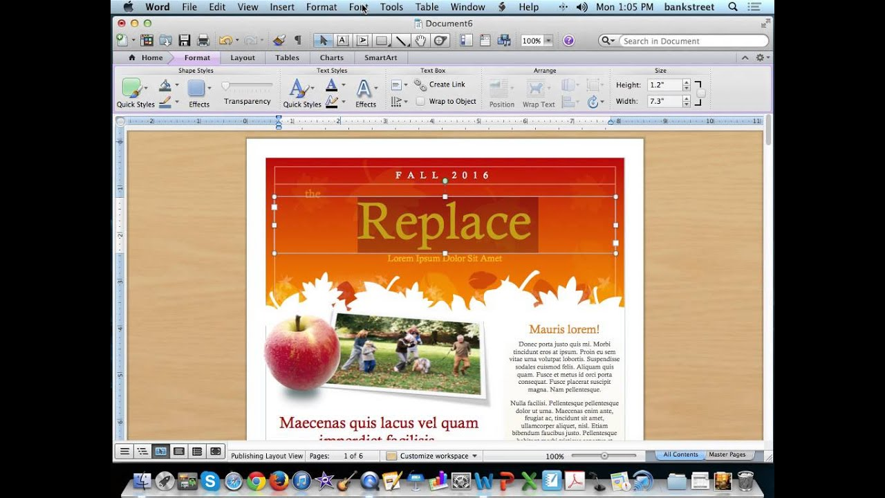 Create A Newsletter Using Microsoft Word Templates YouTube - How to make a newsletter template