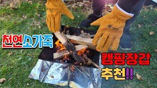 감성공구 천연가죽 캠핑장갑~