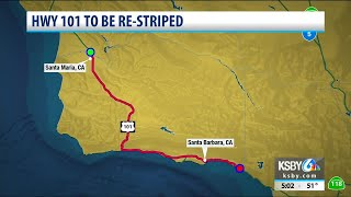 Traffic Alert: Hwy 101 to be re-striped in Santa Barbara County this week