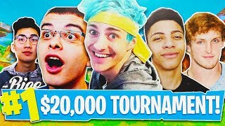 Fortnite $20,000 Youtuber Tournament HIGHLIGHTS! - Fortnite Live Gameplay! (Fortnite Battle Royale)