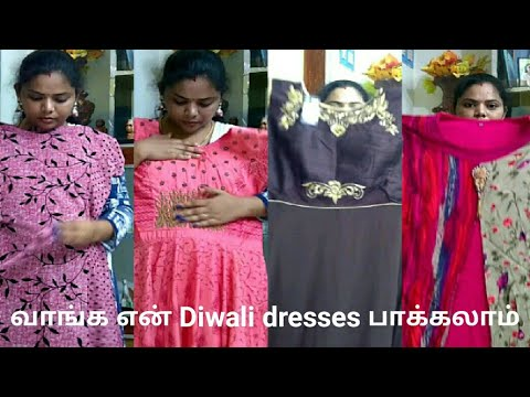 Shopping haul tamil | my Diwali dresses | Anarkali top collections | Diwali special video