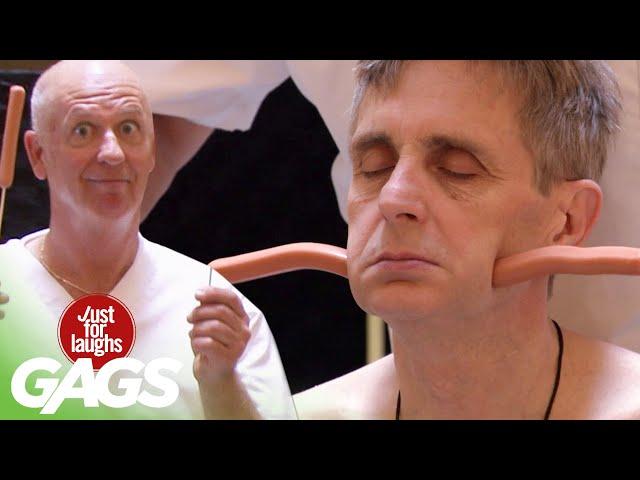 Очень смешно! Жертвы проходят первый в мире массаж с хот-догами