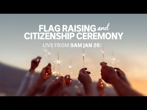 Australia Day 2020 LIVE: Flag Raising And Citizenship Ceremony