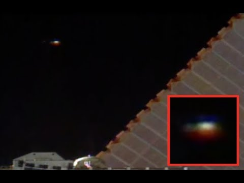 Glowing UFO Spaceship Spotted Watching International Space Station