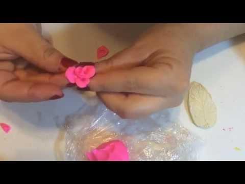 Como Hacer Mini Rosas De Pasta Flexible Youtube