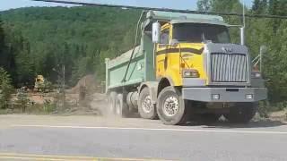 Western Star  Dump Truck excavationslafontaine Levis Quebec