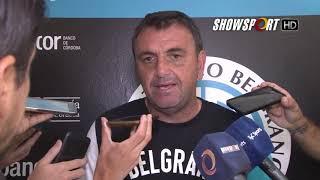 Diego Osella, DT de Belgrano dialogó con la prensa después del entrenamiento