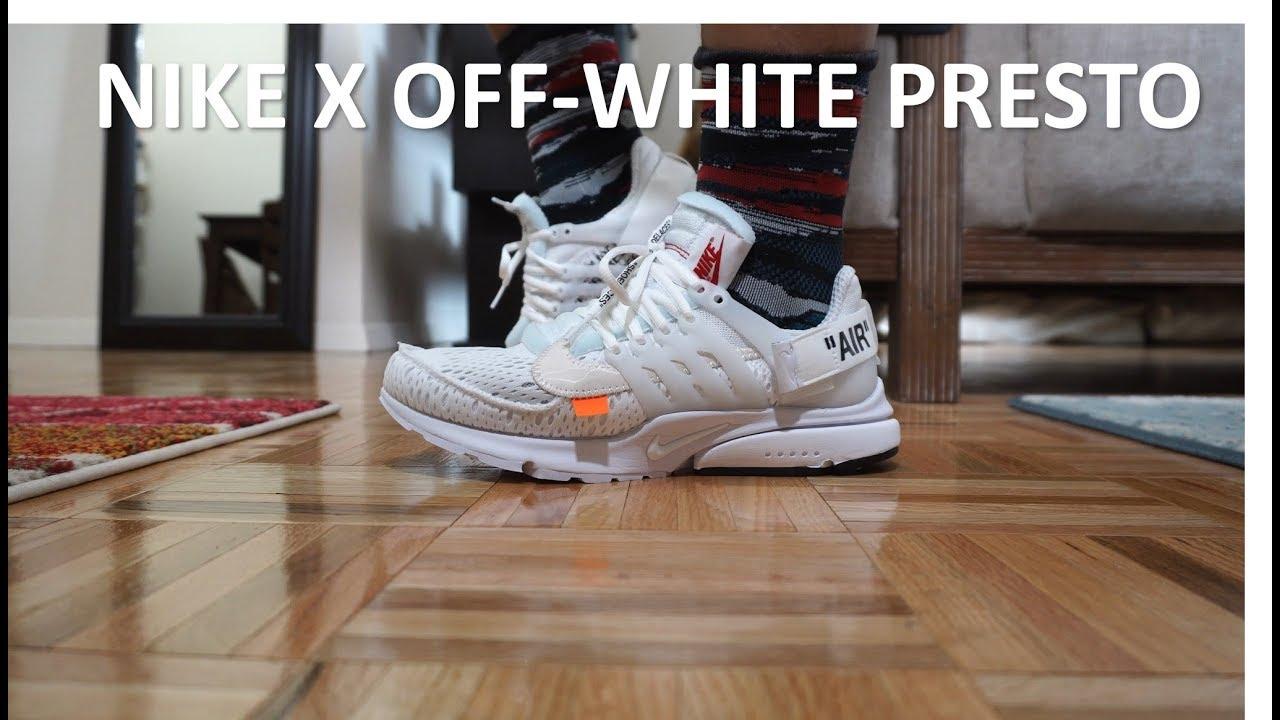 online store ef60c 48f9d Kith raffle win! Unboxing On-Feet - THE TEN - Nike Off-White Presto White