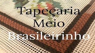 Aprendendo Tapeçaria – Ponto Meio Brasileirinho