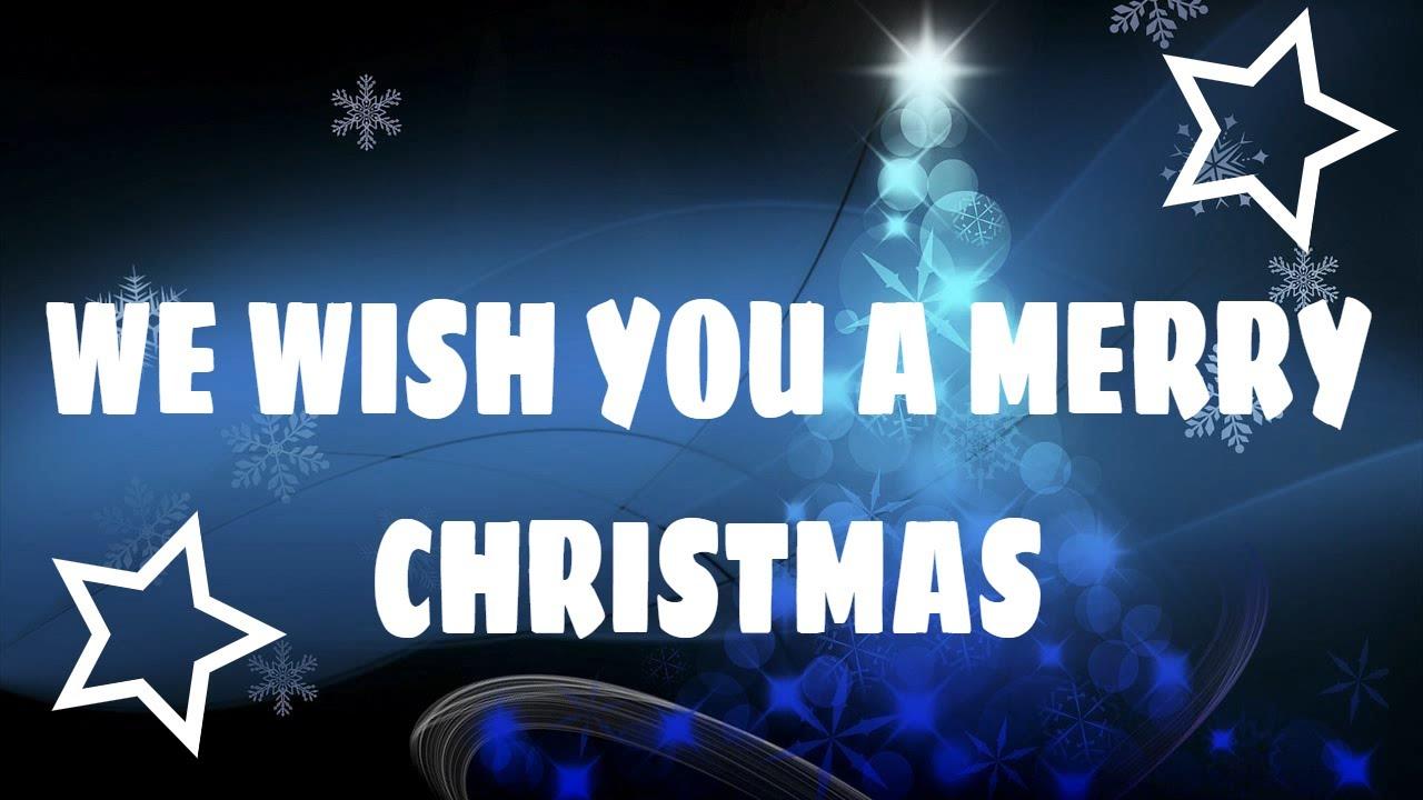 We wish you a Merry Christmas Lyrics/Karaoke/Instrumental - YouTube