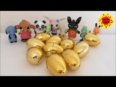 Bing and the golden SURPRISE EGGS! spelling game
