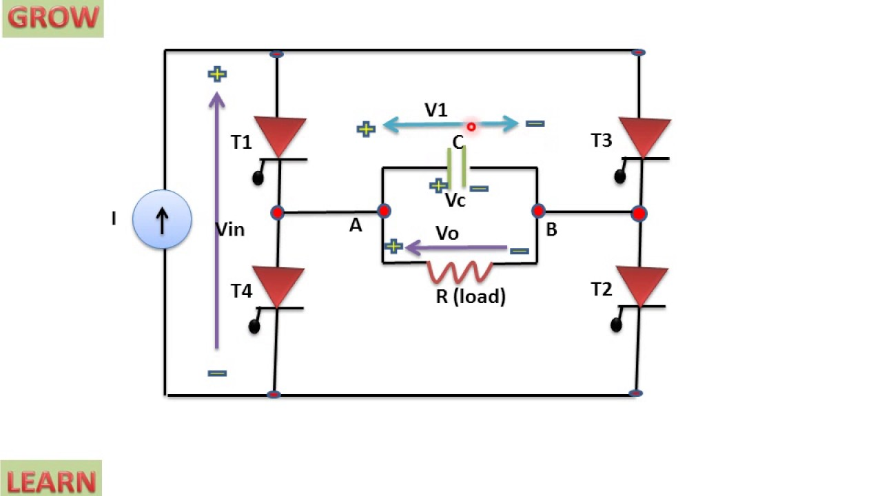 Single Phase Capacitor Commutated Csi With R Load Find The Thvenin Equivalent Respect To 1nf Learn And Grow