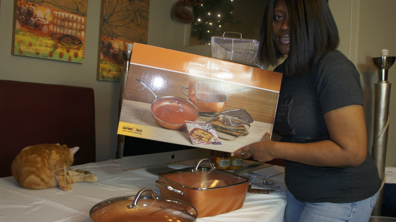 Unboxing Copper Chef Pro 7 Piece Heavy Duty Cookware
