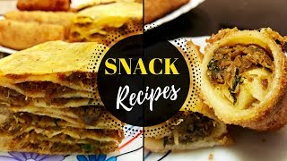2 Snacks with same ingredients / Chattipathiri(pancake layered snack) & Spring Roll