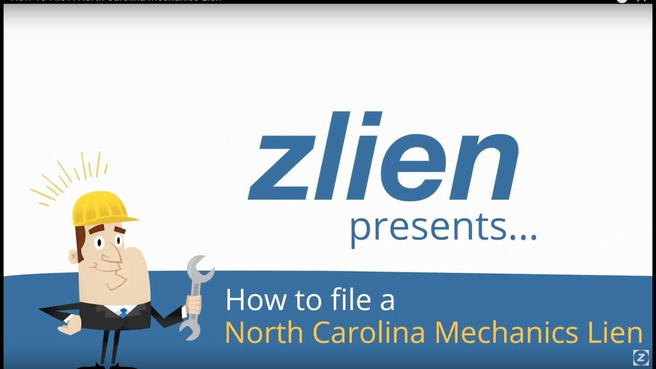 How To File A North Carolina Mechanics Lien - YouTube