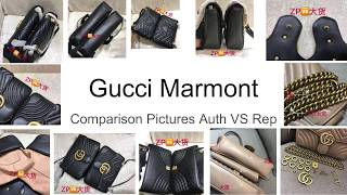 How to Spot Fake Gucci Marmont Bag SIDE BY SIDE Comparison Pictures Authentic VS Super Replica/1:1