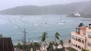Hurricane Irma hitting Cruz Bay  Virgin islands 11 AM update