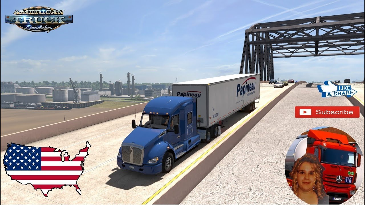 American Truck Simulator (1 34) Coast to Coast Map v2 7 by Mantrid Lousiana  Reabuild + DLC's & Mods