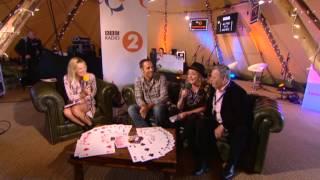 Jack Johnson backstage at Radio 2 Live in Hyde Park 2013