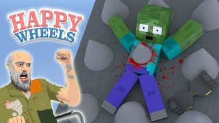 - Monster School HAPPY WHEELS CHALLENGE Minecraft Animation